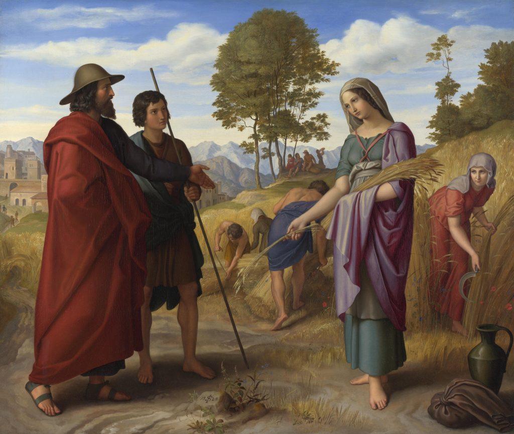 Ruth in het veld van Boaz door Julius Schnorr von Carolsfeld