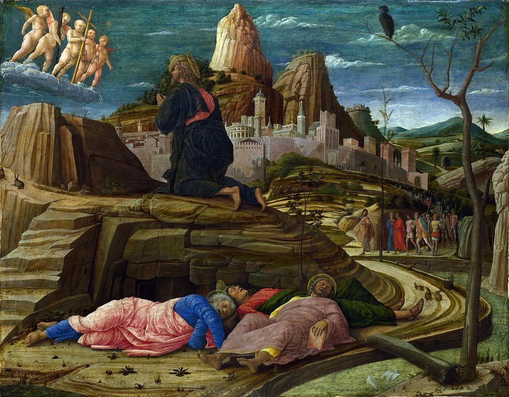 Andrea Mantegna's Doodsangst in de hof, uit circa 1460
